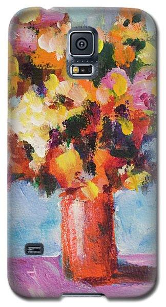 Flower Bouquet In Red Vase Galaxy S5 Case by Yulia Kazansky