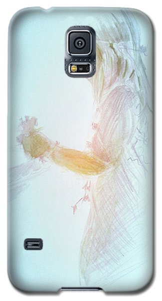 Galaxy S5 Case featuring the painting Flower Child by Gertrude Palmer