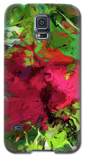 Flower Christmas Red Green Pink Galaxy S5 Case