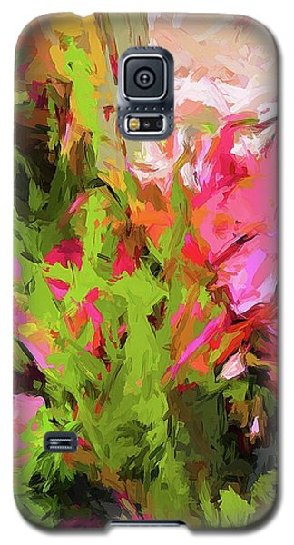 Flower Ecstasy Pink Tropical Green Galaxy S5 Case