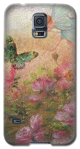 Flower Fairy Butterfly Roses Galaxy S5 Case