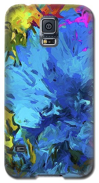 Flower Fantasy Blue Pink Splatter Galaxy S5 Case