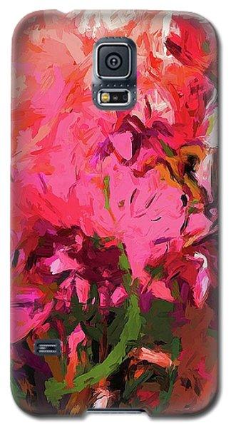 Flower Flames Soul Pink Galaxy S5 Case