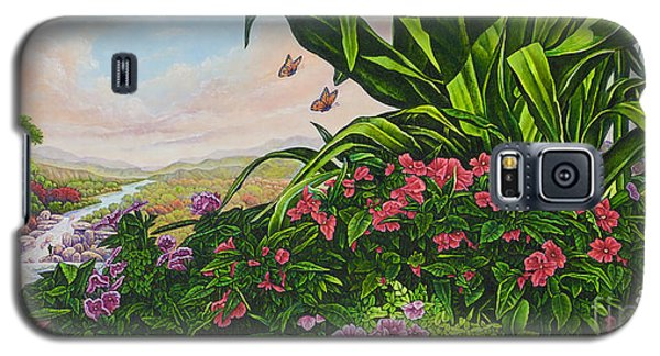 Galaxy S5 Case featuring the painting Flower Garden Vii by Michael Frank