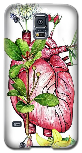 Flower Heart Galaxy S5 Case