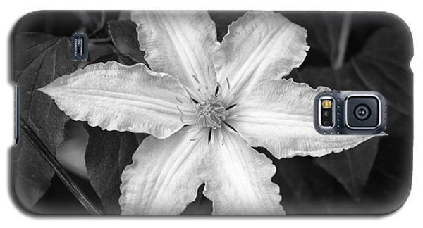 Flower In Black And White Galaxy S5 Case