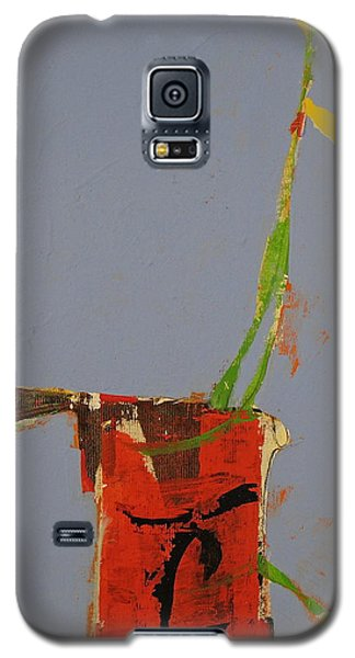 Galaxy S5 Case featuring the painting Flower In Pitcher- Abstract Of Course by Cliff Spohn