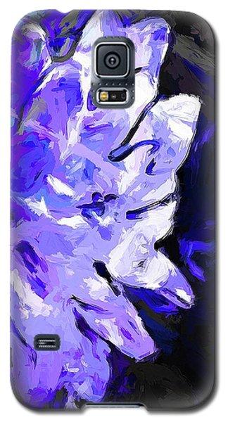 Flower Lavender Lilac Blue Galaxy S5 Case