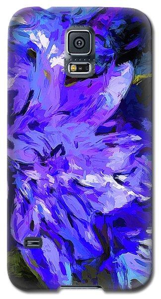 Flower Lavender Lilac Cobalt Blue Galaxy S5 Case