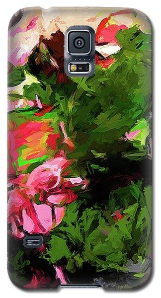 Flower Lolly Pink Leaf Rainbow Galaxy S5 Case