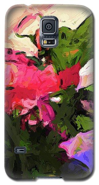 Flower Lolly Pink Magenta Leaf Green Galaxy S5 Case