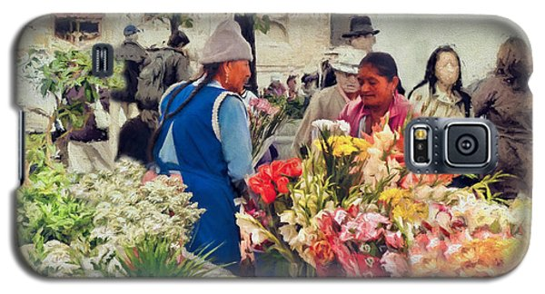 Flower Market - Cuenca - Ecuador Galaxy S5 Case