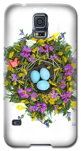 Galaxy S5 Case featuring the digital art Flower Nest by Lise Winne