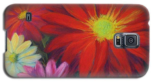 Galaxy S5 Case featuring the painting Flower Power by Vikki Bouffard