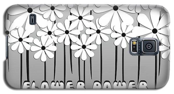 Flower Power - White  Galaxy S5 Case