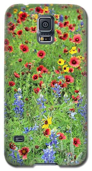 Flower Quilt Galaxy S5 Case by Joe Jake Pratt