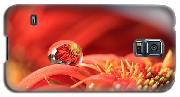 Flower Reflection In Water Drop Galaxy S5 Case