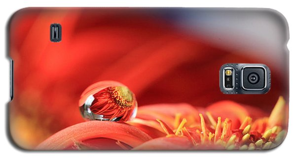 Flower Reflection In Water Drop Galaxy S5 Case