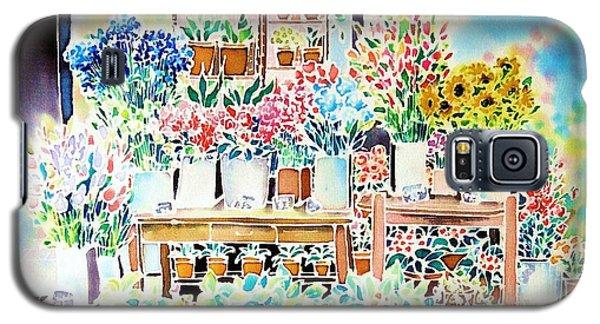 Flower Shop In Paris Galaxy S5 Case
