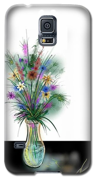 Galaxy S5 Case featuring the digital art Flower Study One by Darren Cannell