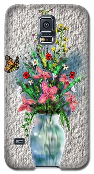 Galaxy S5 Case featuring the digital art Flower Study Three by Darren Cannell