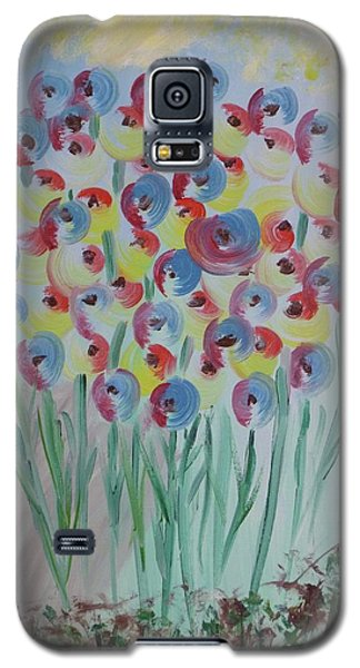 Galaxy S5 Case featuring the painting Flower Twists by Barbara Yearty