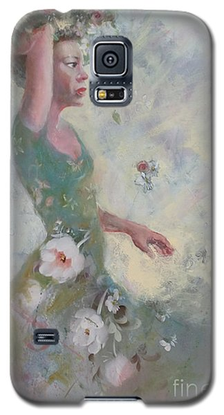 Galaxy S5 Case featuring the painting Flower Vender by Gertrude Palmer