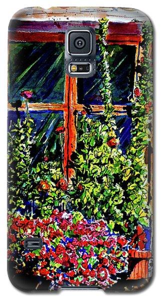 Flower Window Galaxy S5 Case by Terry Banderas