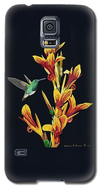 Flower With Bird Galaxy S5 Case