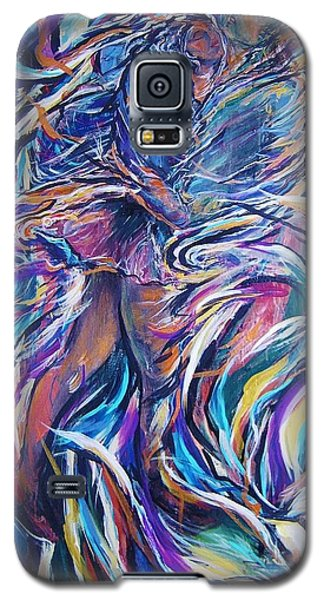 Galaxy S5 Case featuring the painting Flowering by Dawn Fisher
