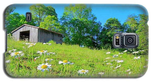 Flowering Hillside Meadow - View 2 Galaxy S5 Case