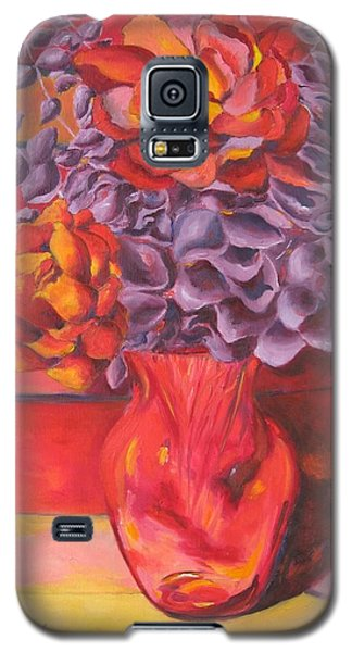 Flowering Orange Galaxy S5 Case by Lisa Boyd