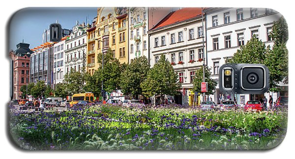 Galaxy S5 Case featuring the photograph Flowering Wenceslas Square In Prague by Jenny Rainbow