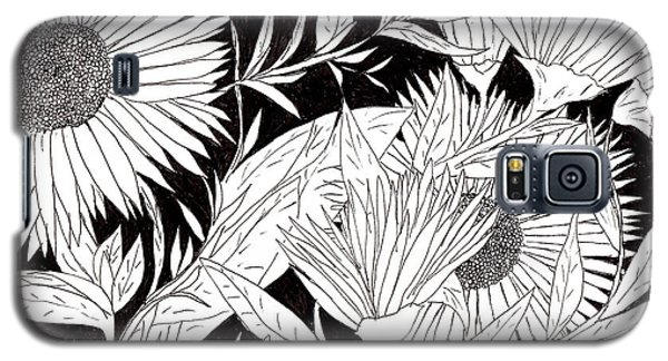 Galaxy S5 Case featuring the drawing Flowers 2 by Lou Belcher