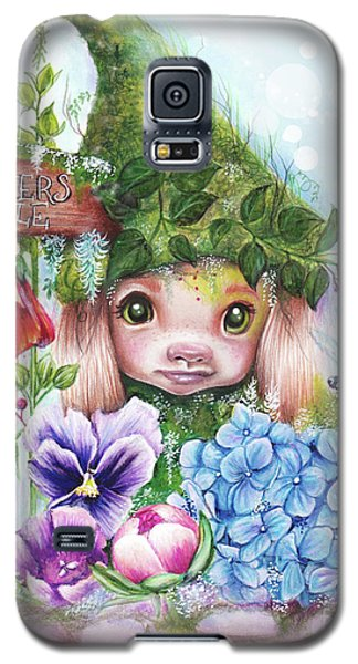 Galaxy S5 Case featuring the mixed media Flowers 4 Sale - Garden Whimzies Collection by Sheena Pike
