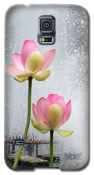 Galaxy S5 Case featuring the photograph Flowers And Fountains by Helen Haw