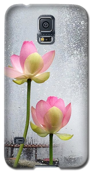 Flowers And Fountains Galaxy S5 Case
