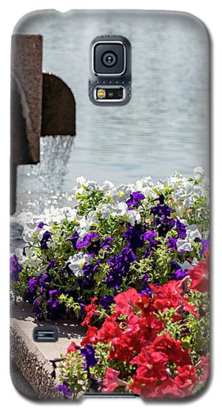 Flowers And Water Galaxy S5 Case