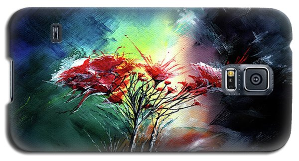 Galaxy S5 Case featuring the painting Flowers by Anil Nene