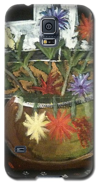 Flowers Galaxy S5 Case by Artists With Autism Inc