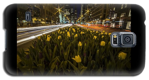 Flowers At Night On Chicago's Mag Mile Galaxy S5 Case
