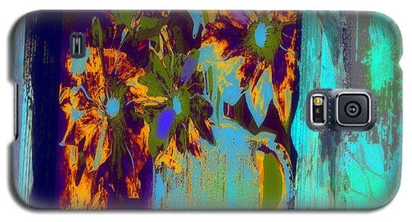 Flowers Beneath A Bleeding Sun Galaxy S5 Case