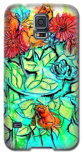 Flowers Bouquet, Illustration Galaxy S5 Case