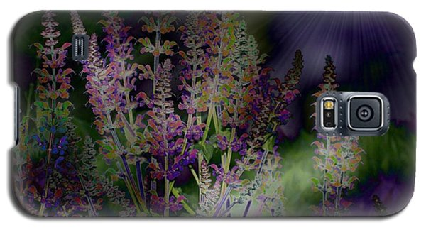 Flowers By Moonlight Galaxy S5 Case by Barbara S Nickerson