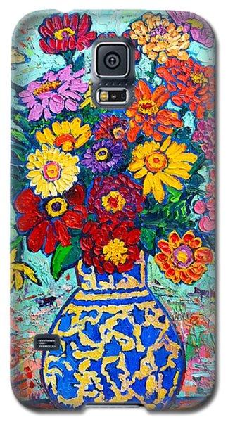 Flowers - Colorful Zinnias Bouquet Galaxy S5 Case
