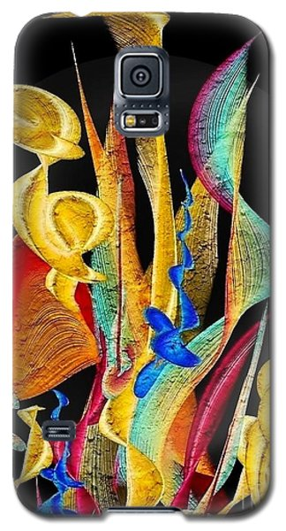 Galaxy S5 Case featuring the digital art Flowers Dream By Nico Bielow by Nico Bielow