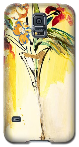 Flowers Flowing In Yellow Galaxy S5 Case