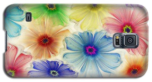 Galaxy S5 Case featuring the digital art Flowers For Eternity by Klara Acel