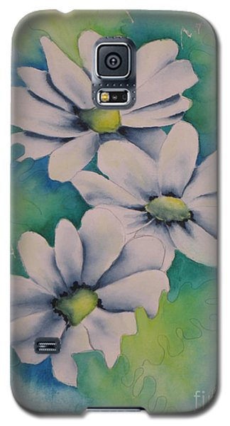 Galaxy S5 Case featuring the painting Flowers For You by Chrisann Ellis