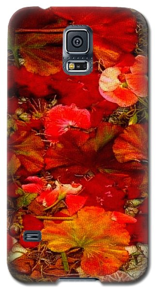 Galaxy S5 Case featuring the mixed media Flowers For You by Ray Tapajna